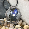 Mandana Studios BLUE LABRADORITE AND OAK LEAVES PENDANT
