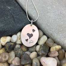 Load image into Gallery viewer, Mandana Studios sterling silver pink rose quartz pendant