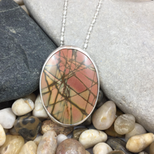 Load image into Gallery viewer, Mandana Studios Red Creek Jasper stone set sterling silver pendant