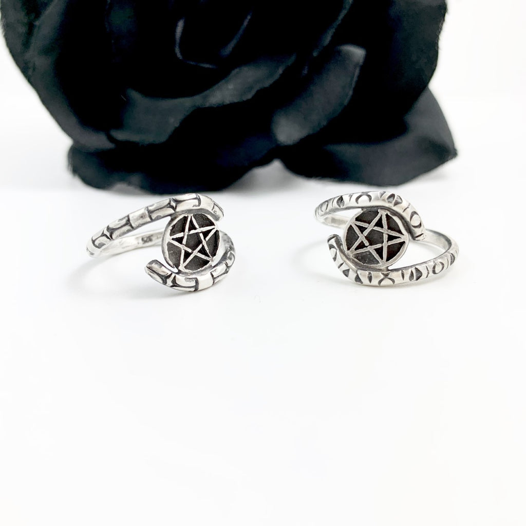 Mandana Studios sterling silver pentacle ring