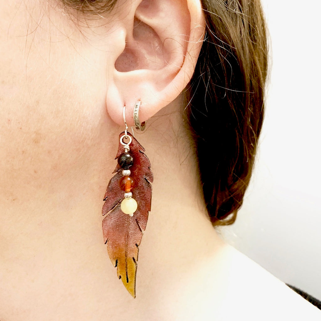 Phoenix Feather Earrings