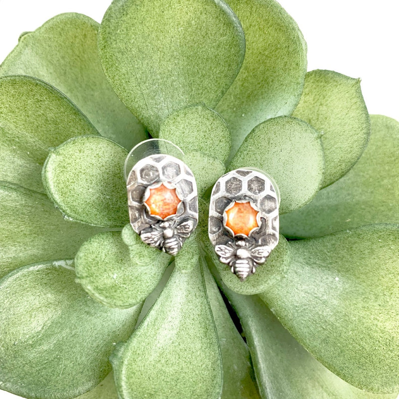 Mandana Studios sterling silver SWEET AS HONEY SUNSTONE EARRINGS