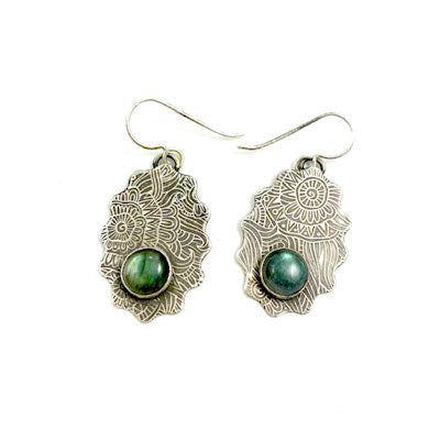 Mandana Studios sterling silver ZEN LABRADORITE EARRINGS