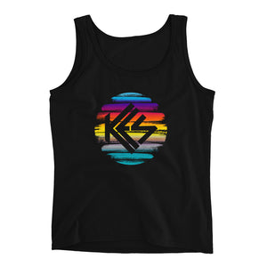 Sunset Kes Logo Ladies Tank