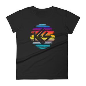 Sunset Kes Logo Ladies T-Shirt - Kes Official Online Store