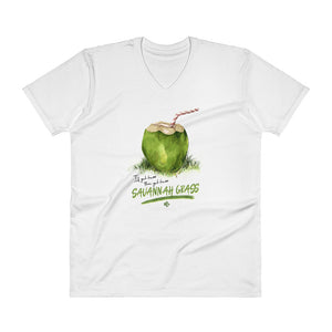 Savannah Grass Mens V-Neck T-Shirt - Kes Official Online Store