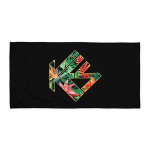 Tropical Kes Logo Beach Towel - Kes Official Online Store