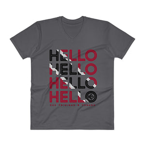 Hello Trinidad and Tobago Mens V-Neck T-Shirt - Kes Official Online Store