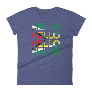 Hello Guyana Ladies T-Shirt - Kes Official Online Store