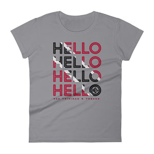 Hello Trinidad and Tobago Ladies T-Shirt - Kes Official Online Store