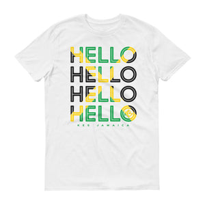 Hello Jamaica Mens T-Shirt - White - Kes Official Online Store