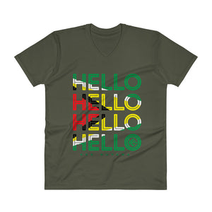 Hello Guyana Mens V-Neck T-Shirt - Kes Official Online Store