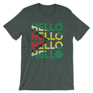 Hello Guyana Mens T-Shirt - Heather Forest - Kes Official Online Store