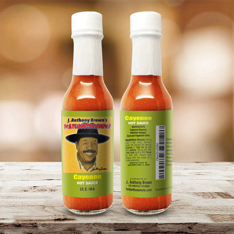 """Cayenne"" J Anthony Browns WatchOutDehNow Hot Sauce *Pre-Order Only*"