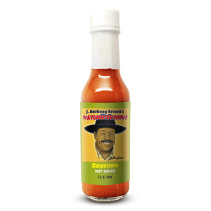 """Cayenne"" J Anthony Browns WatchOutDehNow Hot Sauce"