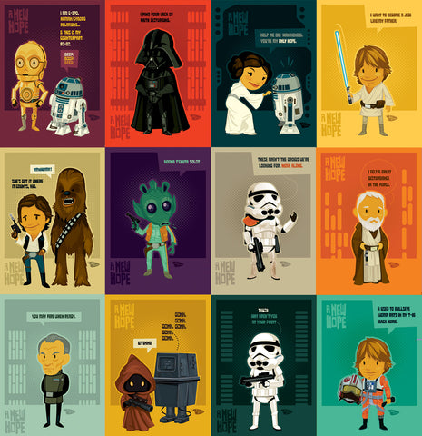 "12 Pack - 5x7 Minicards EP4 ""A New Hope"""