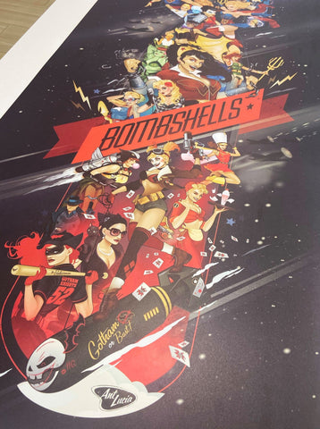 18x36 DC Bombshells Celebration Poster