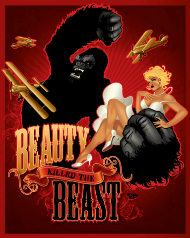 "16x20 Spookshow Pinups ""Beauty Killed the Beast"""