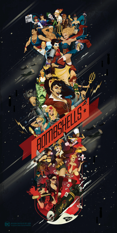 DC Bombshells 18x36 Celebration Poster