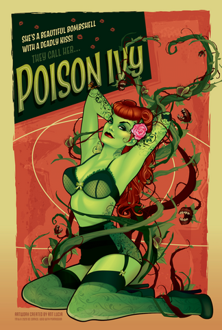 DC Bombshells 12x18 Poster - Poison Ivy