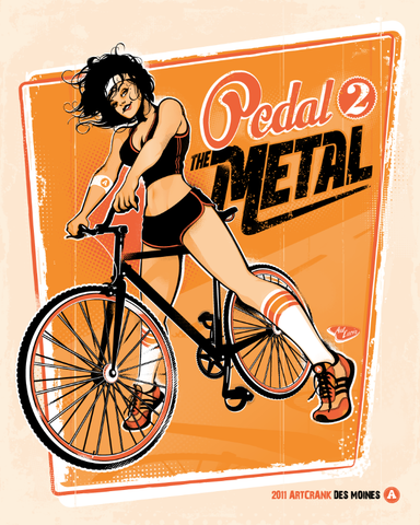 16x20 Pedal 2 The Metal - ArtCrank