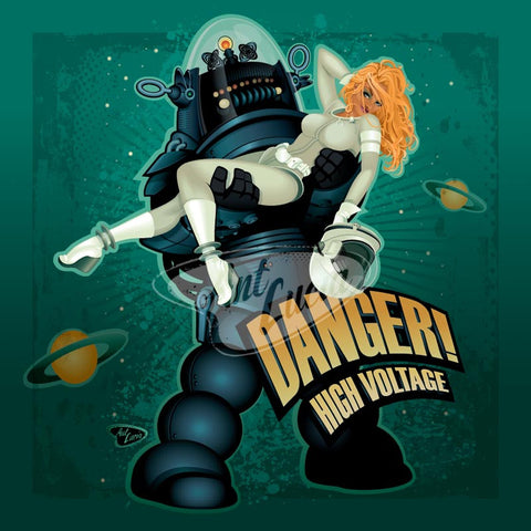 Spookshow Pinups Series: Danger! High Voltage!