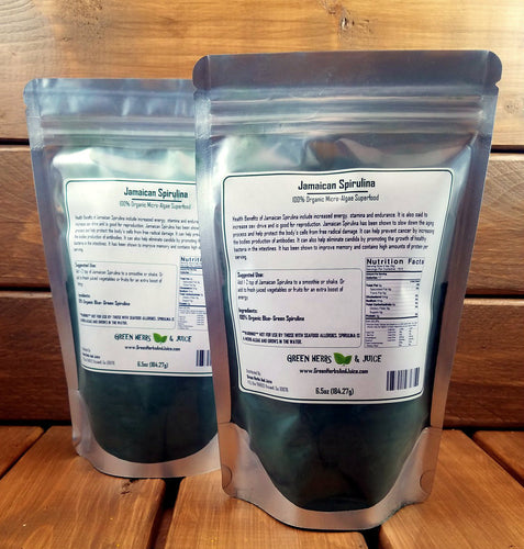 Jamaican Spirulina (Blue-Green Algae)