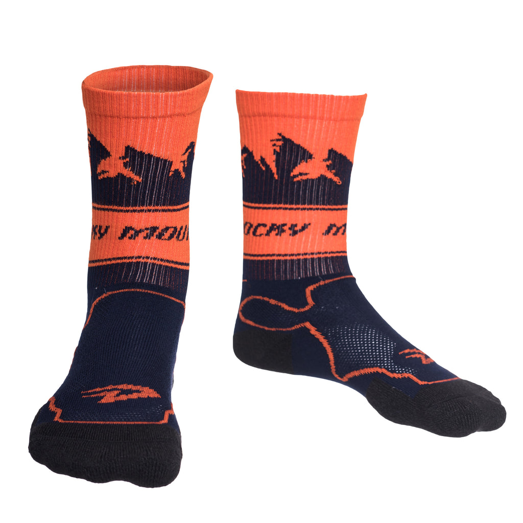 Mountain Socks Navy/Orange