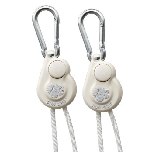 Sun Grip Push Button Light Hanger 1/8 in White -1/Pair (12/Cs)