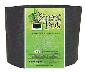 Smart Pot Black 1 Gallon (100/Cs)