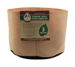 Gro Pro Premium 3 Gallon Round Fabric Pot-Tan (72/Cs)