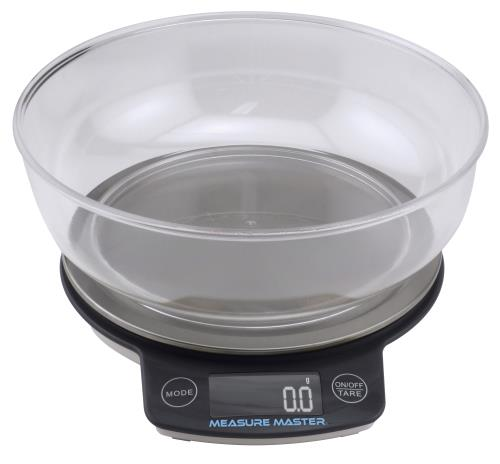 Measure Master Digital Scale w/ 1.88 L Bowl (3kg) - 3000g Capacity x 0.1g Accuracy (24/Cs)