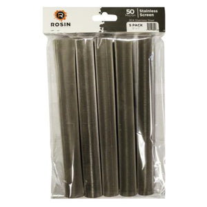 Rosin Industries 50 Micron Stainless Steel Tubes (1=5/Pack) (12/Cs)