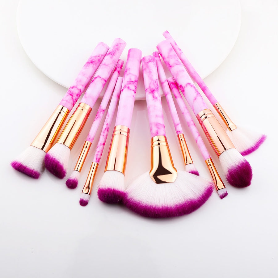 Forever Rose 10 PCS Makeup Brush Set