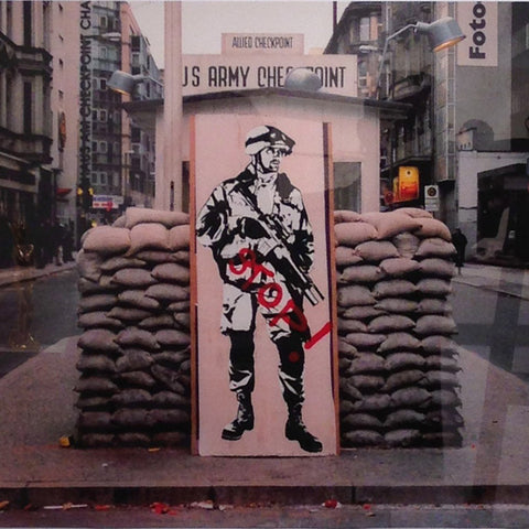 "Blek le Rat,""Checkpoint Charlie"" - Jonathan LeVine Gallery - 1"