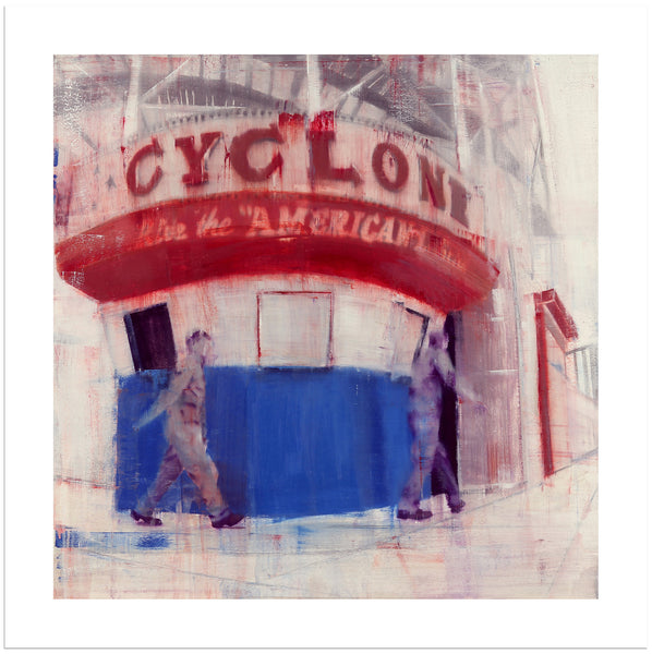 "Brett Amory, ""Coney Island, 8-9am (Waiting #170)"" - Jonathan LeVine Gallery"