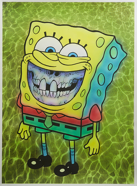 "Ron English, ""Spongebob Grin"" HPM - Jonathan LeVine Gallery - 1"