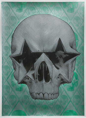 "Ron English, ""Starskull Negative"" HPM - Jonathan LeVine Gallery - 1"