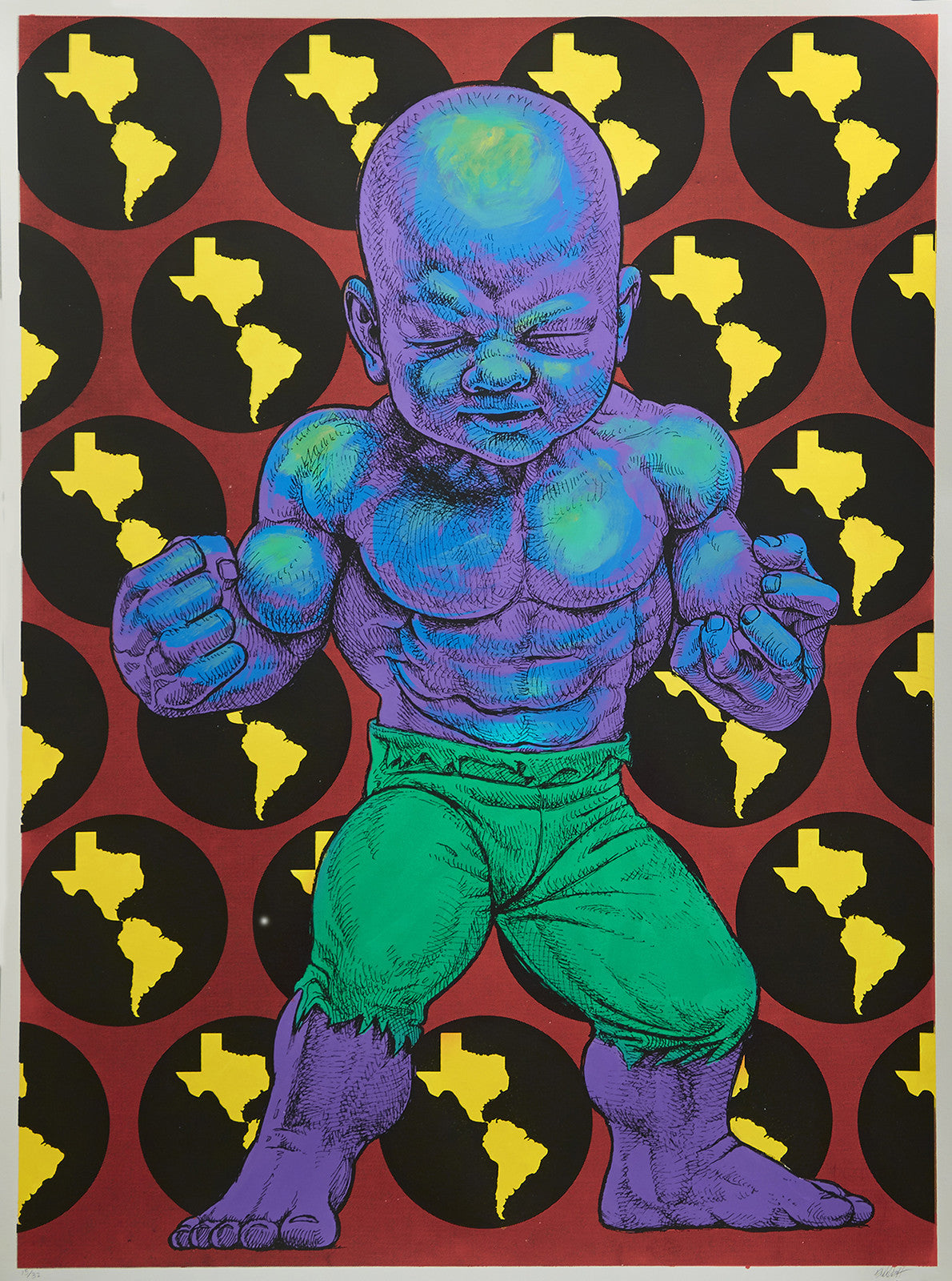 "Ron English, ""Texas Temper Tot"" HPM - Jonathan LeVine Gallery - 2"