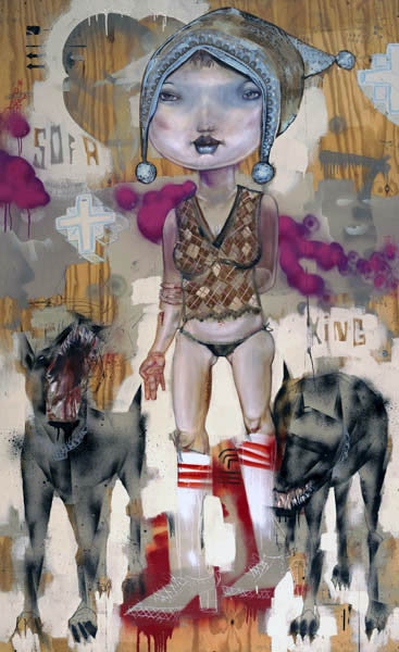 "David Choe, ""Sofa King"" - Jonathan LeVine Gallery - 1"