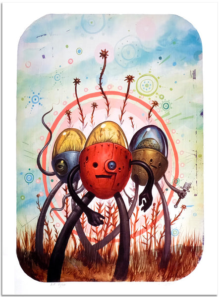 "Jeff Soto, ""Tres Flores"" (Artist Proof) - Jonathan LeVine Gallery"