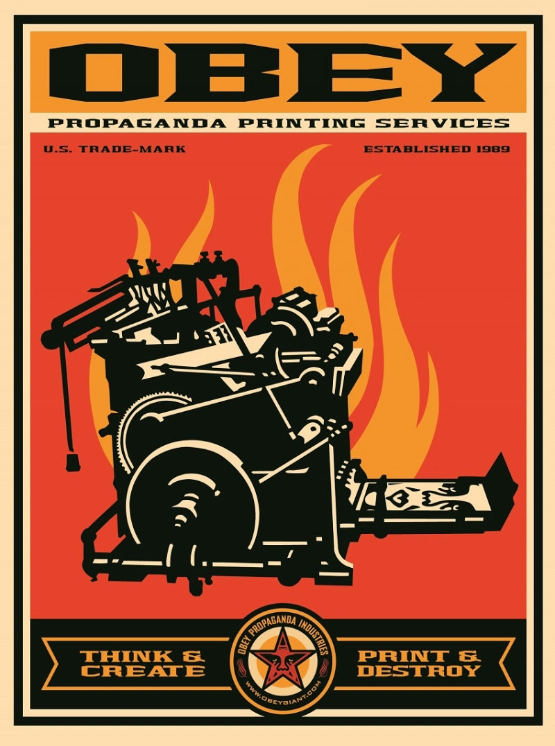 "Shepard Fairey, ""Print and Destroy"" Artist Proof"