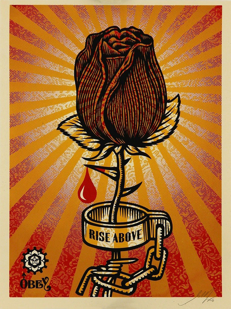 "Shepard Fairey, ""Rose Shackle"""