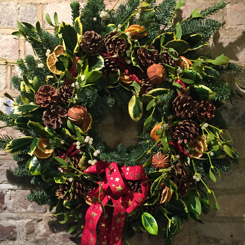 Large luxury door wreath