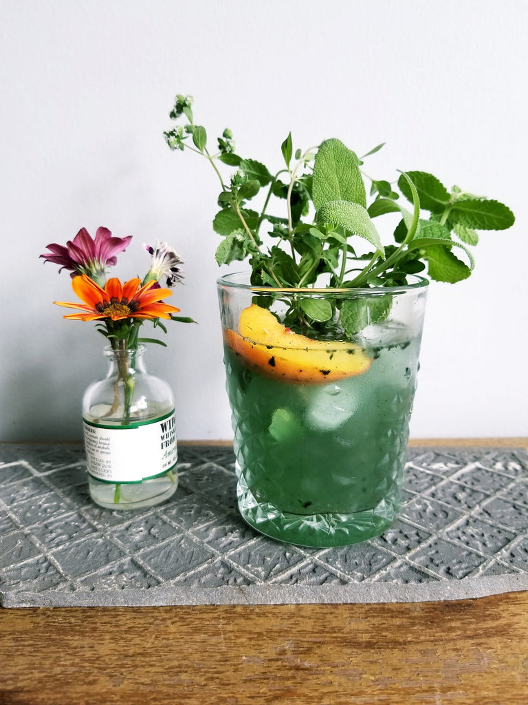 Peach and Spirulina Gazos Recipe