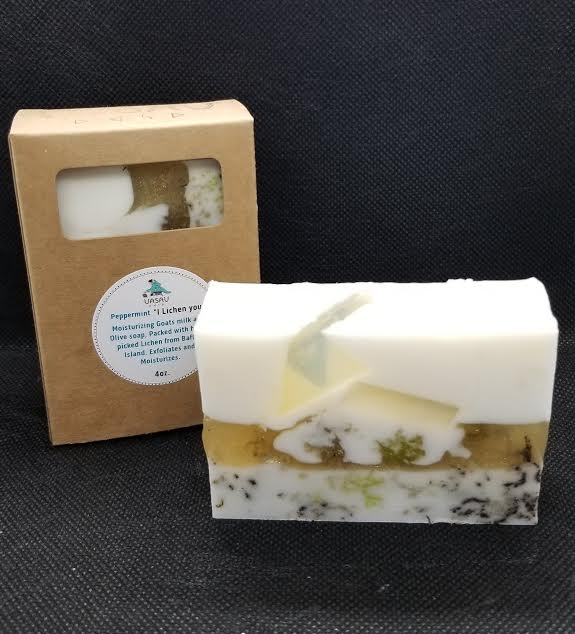 "Peppermint ""I lichen you"" hand and body soap"