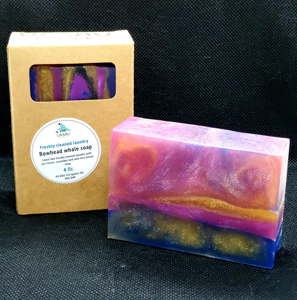 "Freshly cleaned laundry ""Bowhead whale hand and body soap"" 4oz"