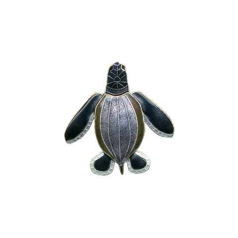 BAMBOO LEATHERBACK PIN