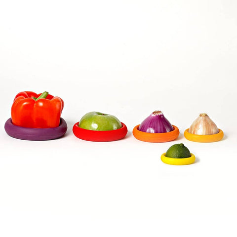 5 PK SILICONE REUSABLE FOOD SAVERS