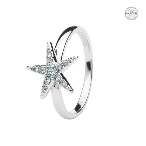 STARFISH AQUA CRYSTAL RING